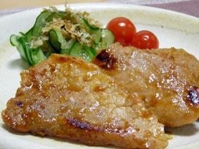 豚肉味噌焼き