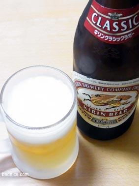 ナポリタン時のビール