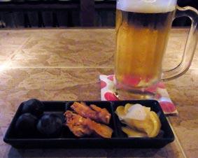 8/14くんちゃんビールとお通し