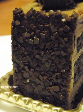 チョコケーキ側面
