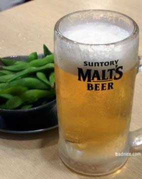 府中の1杯目ビール