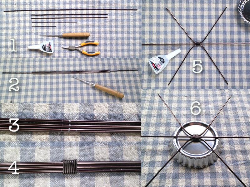 ワイヤークラフト・タルト型でテーブル小物