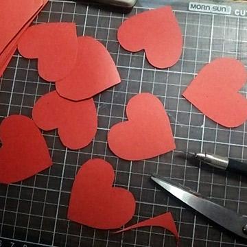 バレンタインラッピング準備
