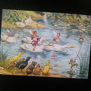 あひるのポストカード-Margaret W.Tarrant