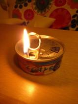 ツナ缶キャンドル