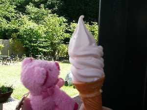 甲州で一番美味しいらしいアイス、、