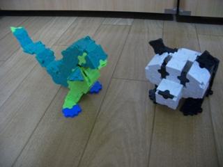パンダと恐竜