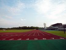 100m走スタート地点から撮影