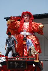 岩堀さん製作の山車人形(猩々舞・2011年・元新区)
