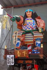 岩堀さん製作の山車人形(明智光秀・2011年・下台区)
