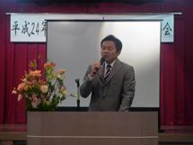 記念講演を行う日刊スポーツ記者の寺尾博和氏