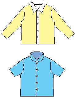 子供用Yシャツの型紙90〜110サイズ