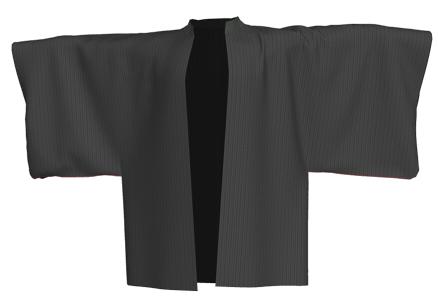 着物(羽織)風ハイネックのコートのつくり方