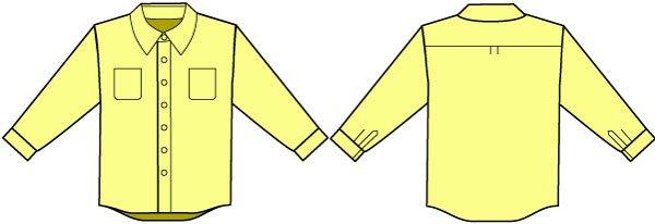 メンズボタンダウンシャツ(Yシャツ)の型紙