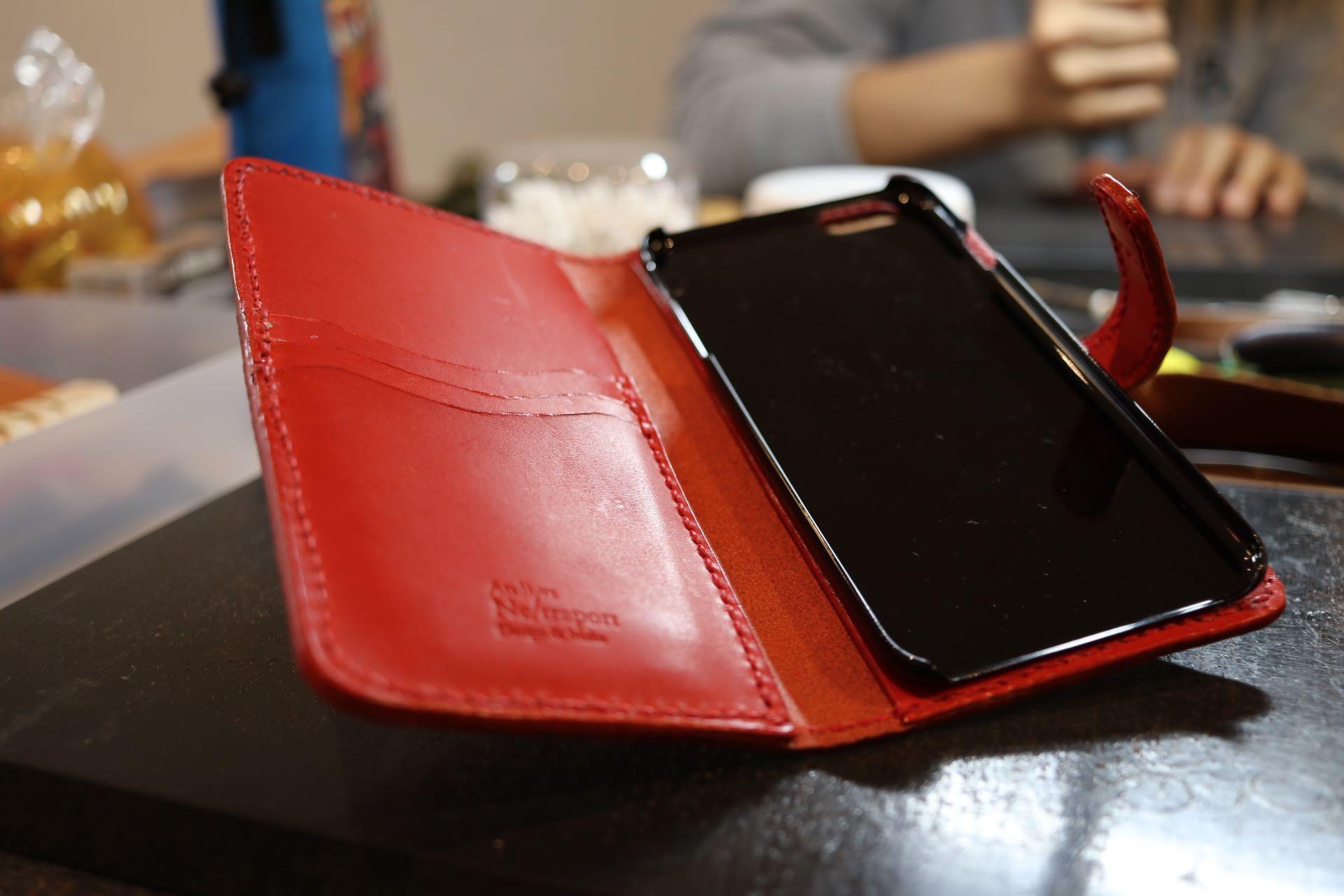 革の携帯ケース
