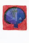 ポストカード:少女の顔