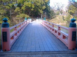 茶臼山への橋