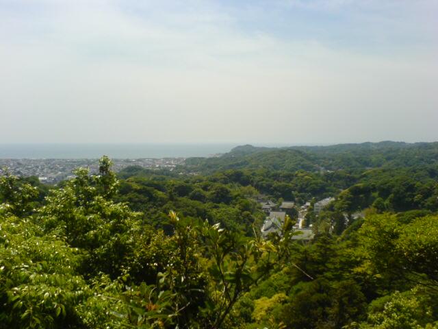 天園コースからの景色(海が少しみえるょ♪)