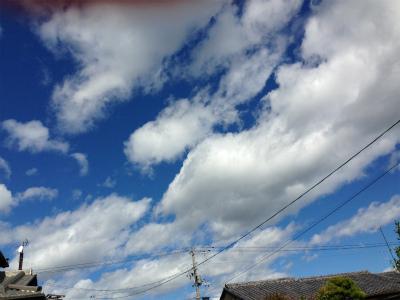 当日は、こんな空だったと思うけど。
