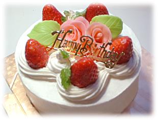 友人の誕生日ケーキ