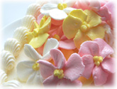 バタークリームデコレーションケーキ・花