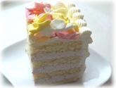 バタークリームデコレーションケーキ・カット