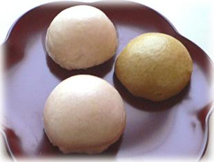 黒糖&桜饅頭