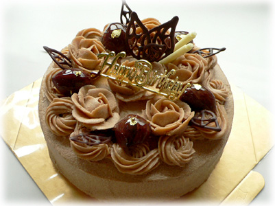 マロンデコケーキ