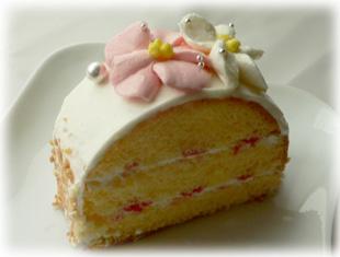 お花のケーキ・カット
