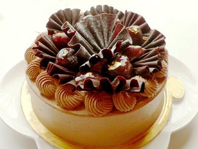 チョコレートマロンショート