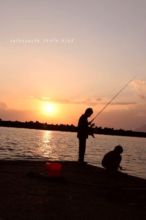 海釣り少年