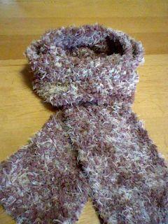 斜め編みマフラー