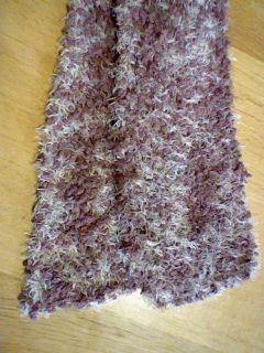 斜め編みマフラーアップ