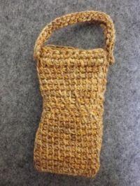 アフガン編み携帯ケース裏