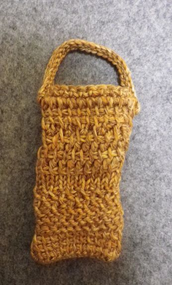 アフガン編み携帯ケース表