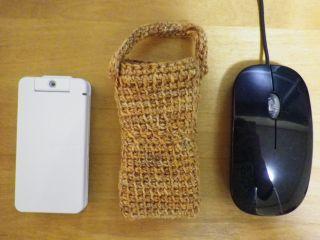 アフガン編み携帯ケース大きさ