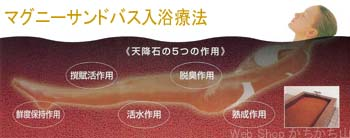 マグニーセラミックボールによる、サンドバス入浴療法