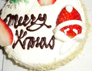 クリスマスケーキ by清月堂 PS:あんこは使ってません