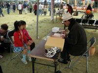 笠岡さくら祭2008「南一平さん似顔絵コーナー」