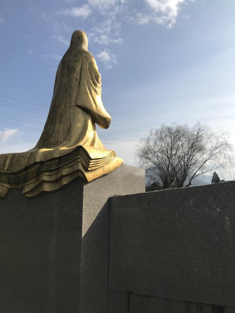 越前市にある紫式部公園の銅像