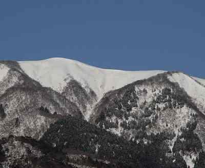 大谷山(813m)の白雪