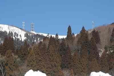 乗鞍岳(865m)の鉄塔