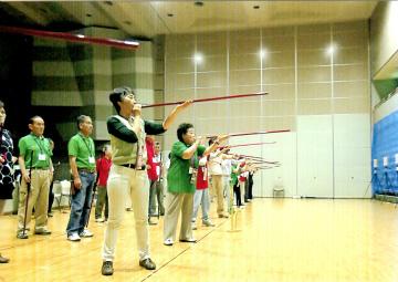 第6回熊谷南健康吹き矢交流大会 大会風景