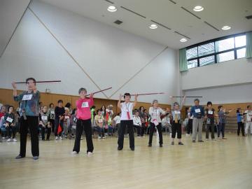 日本吹き矢連盟in東京大会 競技風景
