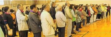 熊谷地区 吹き矢交流大会 大会風景