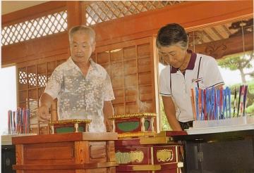 熊谷東支部記念行事で「矢の供養」