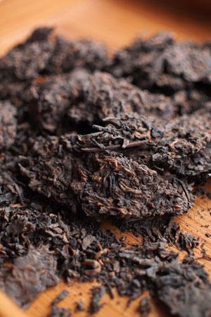 厚紙黄印七子餅茶95年プーアル茶