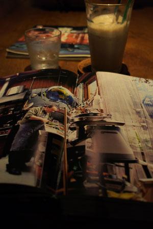 夜カフェの読書