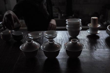 お茶会準備