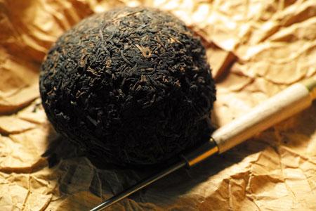 下関銷法沱茶90年代プーアル茶